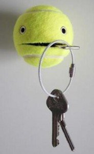 balle de tennis, clés