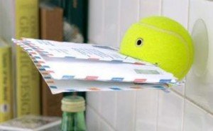 balle de tennis, lettres