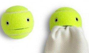 balle de tennis, serviette